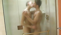 Sweet teen gay boyfriends are hotly fondling each other in the shower