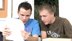 Hot and sexy teen twinks are passionately kissing each other to excite for fuck